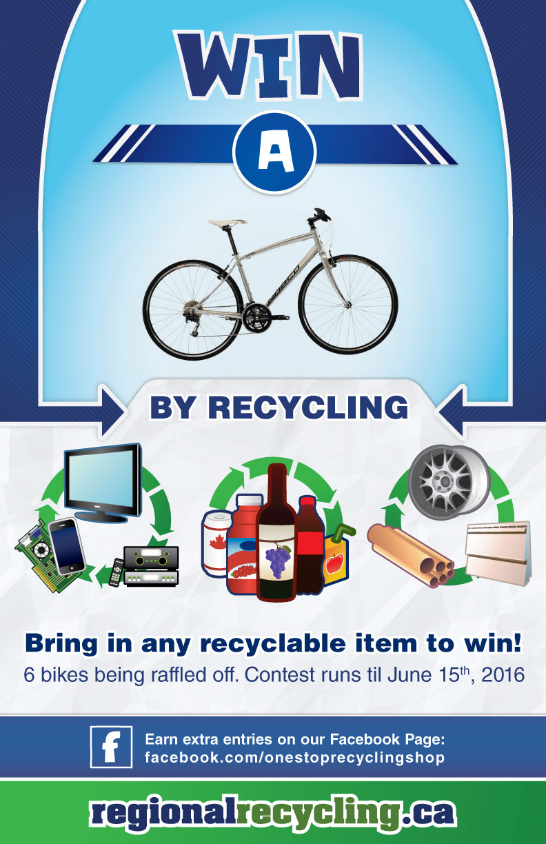 Regional Recycling 2016 Win a Bike contest