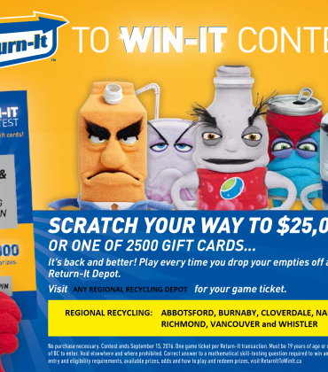 Return It to Win It Beverage Container Recycling Contest