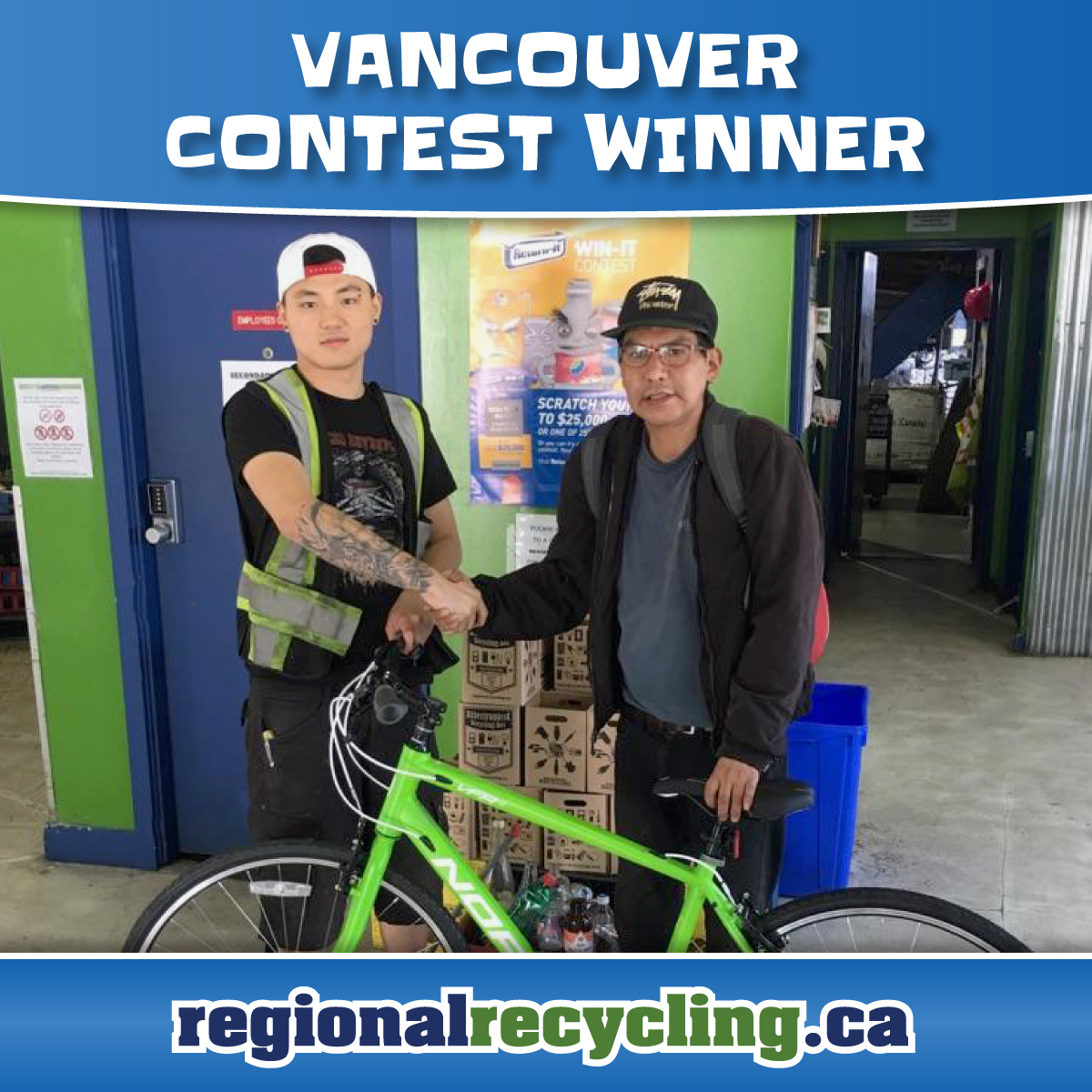 Vancouver Win a Bike Winner | Regional Recycling