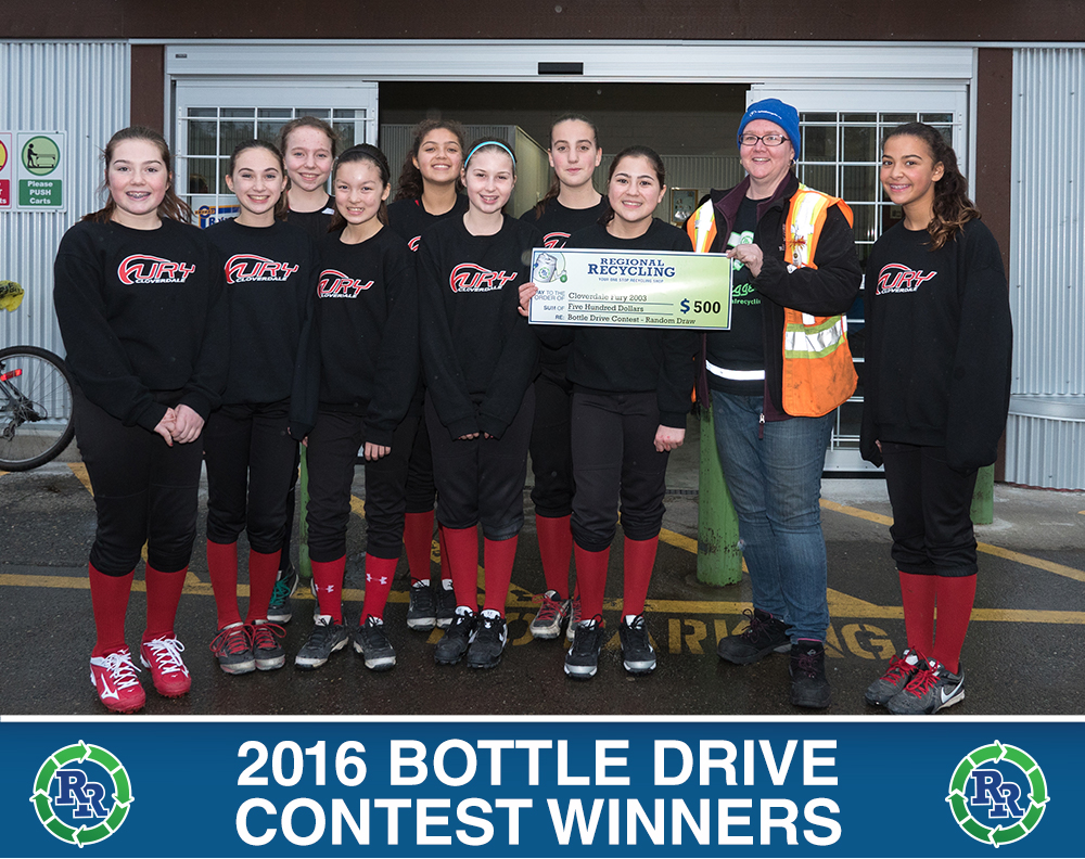 Cloverdale Furry 2003 | Regional Recycling Bottle Drive Winners 2015