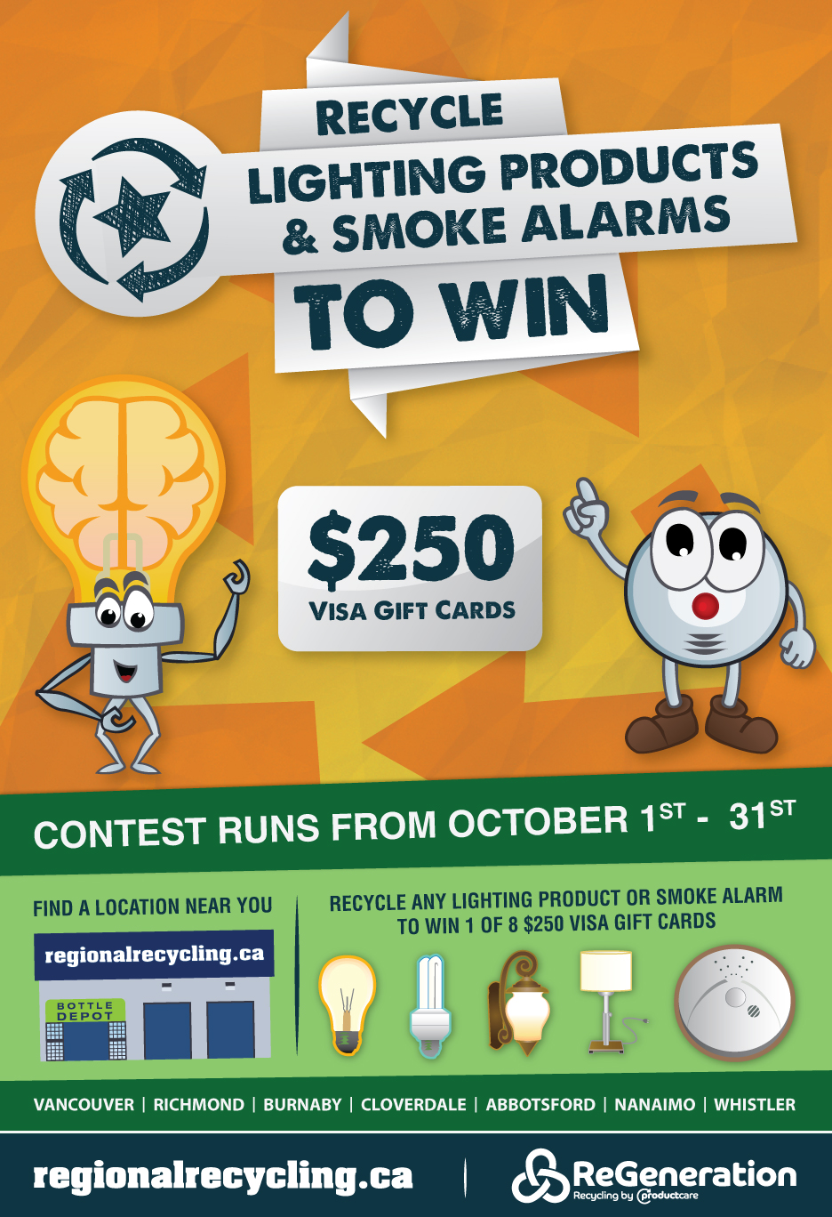 Recycle smoke alarms & lights and win regional recycling