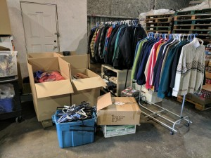 Donations for Homeless at Regional Recycling