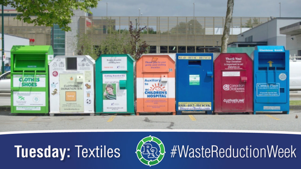 #wasteredcutionweek Waste Reduction Week 2017 Tuesday-Textiles