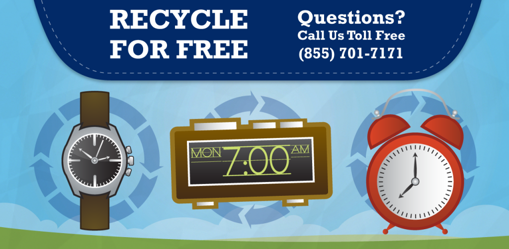 Can I recycle my Clocks and watches? yes, at Regional Recycling!
