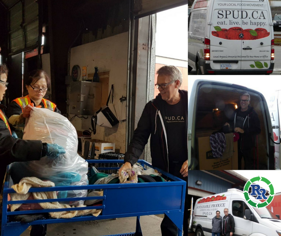 spud donations for homeless in vancouver at regional recycling