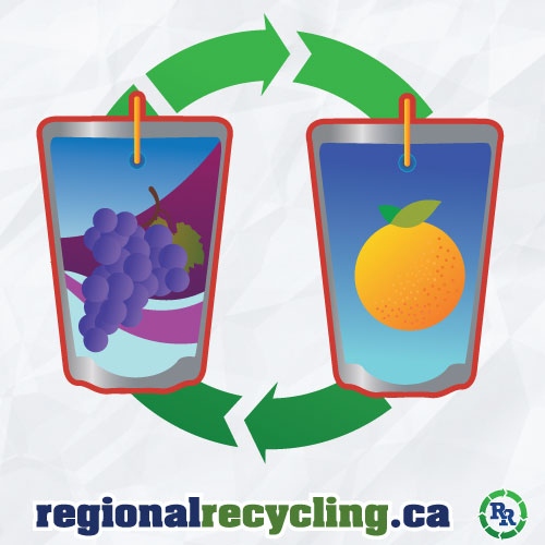 Drink pouch recycling regional recycling beverage container recycling