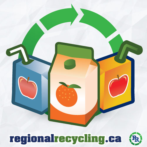 Drink box recycling beverage container recycling regional