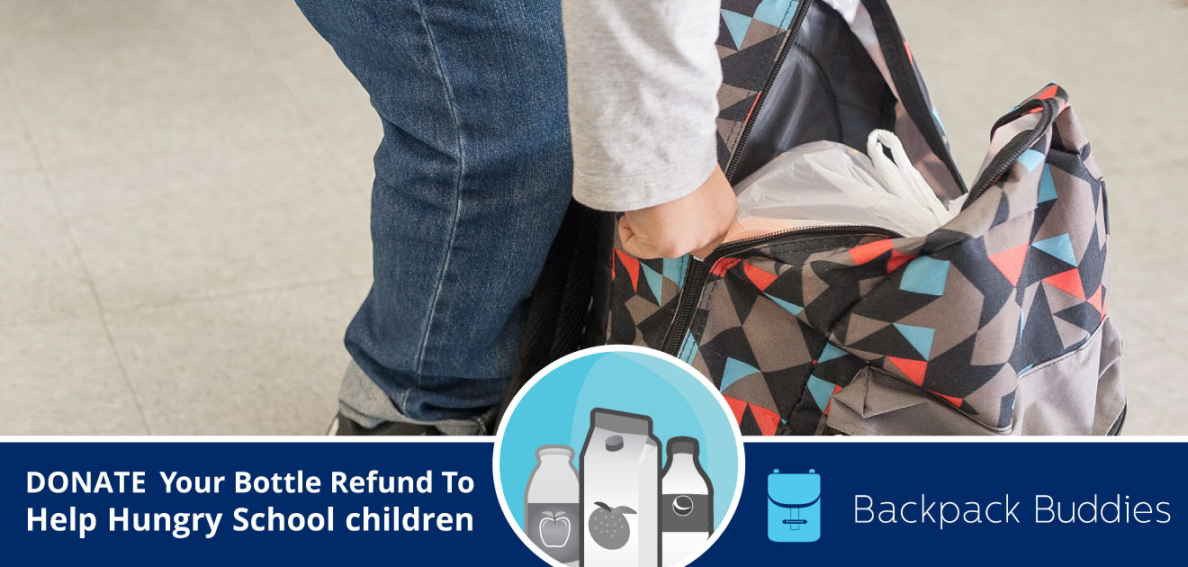 Backpack buddies - regional recycling's Feb 2020 Charity of the month donation bins